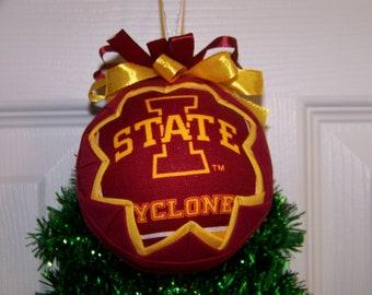Square Iowa State Outline Christmas Ornament