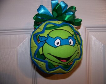 Teenage Mutant Ninja Turtle Quilted Ornament/Leonardo/TMNT/Nickelodeon
