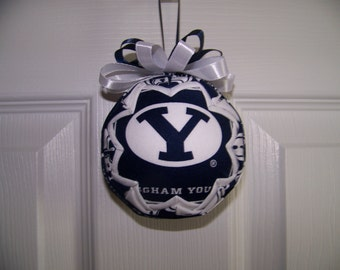 Brigham Young University/ Cougars Quilted Ornament