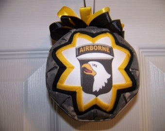 US Army Quilted Ornament/Airborne Screaming Eagle/Patriotic/Military Quilted Ornament
