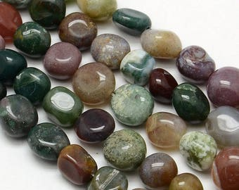 5 x 8-12mm Indian Agate Nuggets beads
