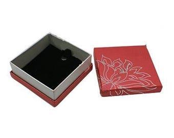 1 x red/silver - Necklace/Bracelet - Lotus jewelry box