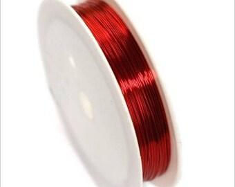 0,4mm copper wire / coil 10 m Red