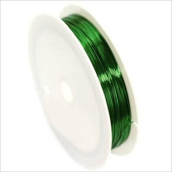 04 mm Kupferdraht / Spule 10 m grün