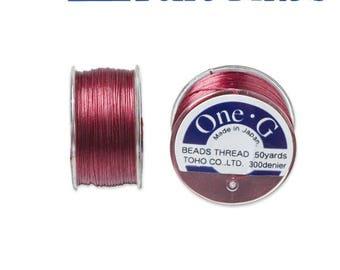 Reel 46 m One - G (Toho) 0.25 mm RED thread