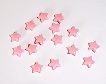 20 x beads 5mm pale pink stars