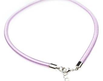 1 x 5mm purple silk cord Choker
