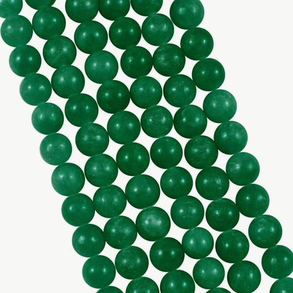 10x perles rondes 4mm jade teint e vert emeraude etsy. Black Bedroom Furniture Sets. Home Design Ideas