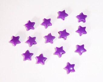 20 x beads 5mm purple stars