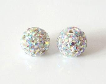 1 x bead ball 8mm Crystal AB Crystal rhinestones