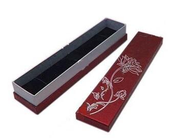 1 x red/silver - Bracelet - Lotus jewelry box