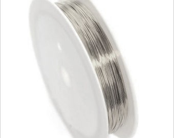 Wire 0.4 mm copper / silver coil 10 m