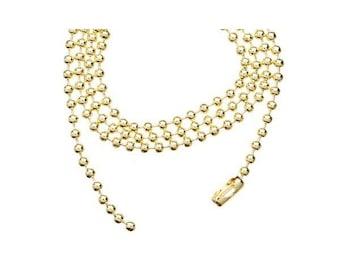 Ball chain / ball fine PALE GOLD 60cm