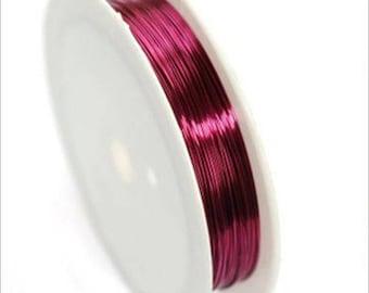 0,4mm copper wire / coil 10 m FUSCHIA