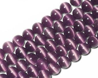 10 x beads 10mm wine Burgundy cats eye