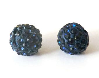 1 x bead ball 10mm MONTANA Crystal rhinestones