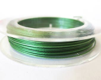 Coil 10 m wire 0.45 mm moss green