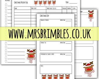 Rudolph {PERSONAL} printable inserts - Christmas planner / Filofax