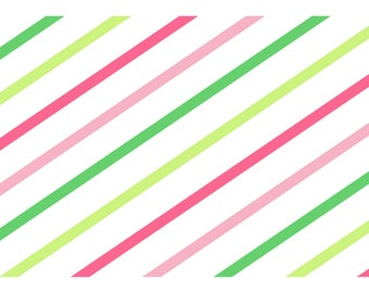 Pinks & Greens Stripes A4 VELLUM (Hop to it!)