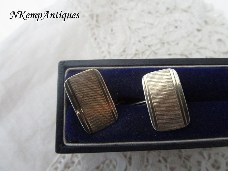 Real silver cufflinks