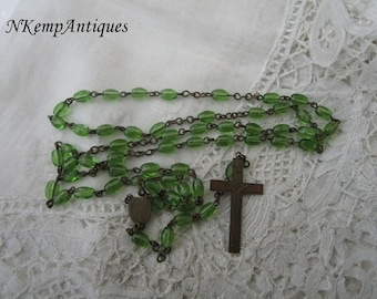 Antique glass rosary 1910