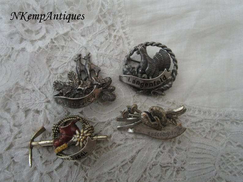 Alpine brooch x 4