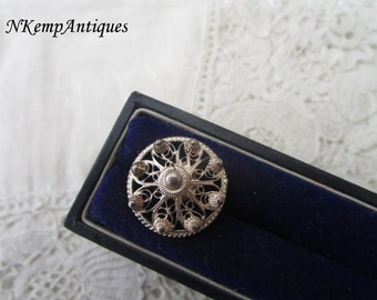 Antique filigree button for the collector