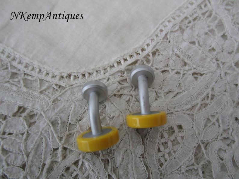 Vintage yellow cufflinks