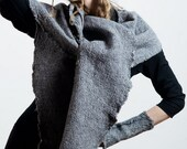 Shawl poncho wrap unconditional fashion pure linen and wool