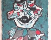 "Art from wool / fiber art/ contemporary wall art/ wall hanging/ felt picture  ""Labyrinth"""