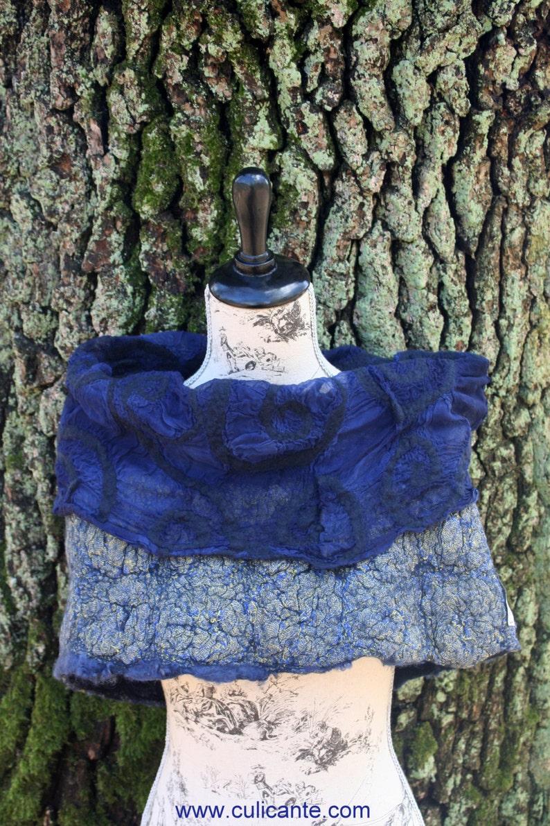 CULICANTE Shawl Poncho Handmade CC texture wool silk linen image 0