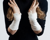 Armwarmers suitable to the scarf unique texture unconditional fashion pure silk and finest merino wool by CULICANTE