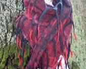 CULICANTE Shawl Scarf Poncho Handmade CC texture wool linen