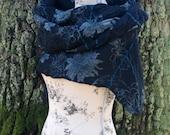 CULICANTE Shawl Scarf Poncho Handmade CC texture wool silk