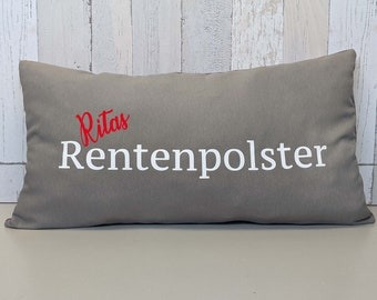 Großes Rentenpolster - Kissen personalisiert