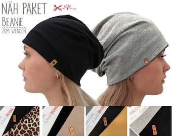 Nähpaket Beanie Mütze - verschiedene Farben