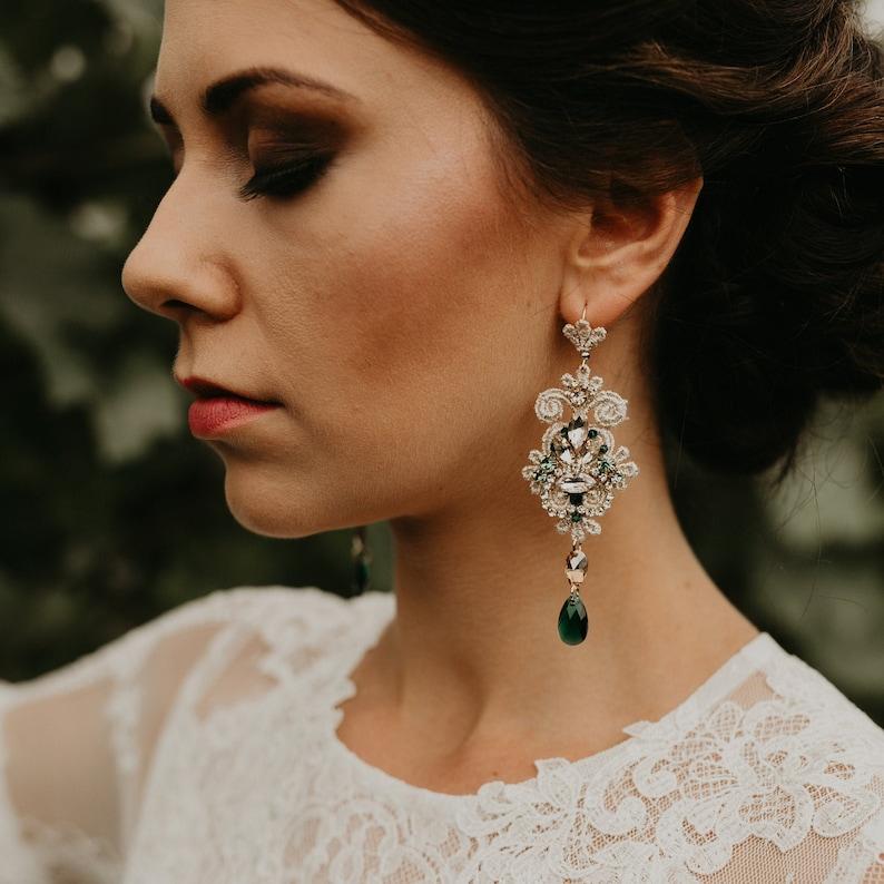 Brautschmuck Smaragd Ohrringe