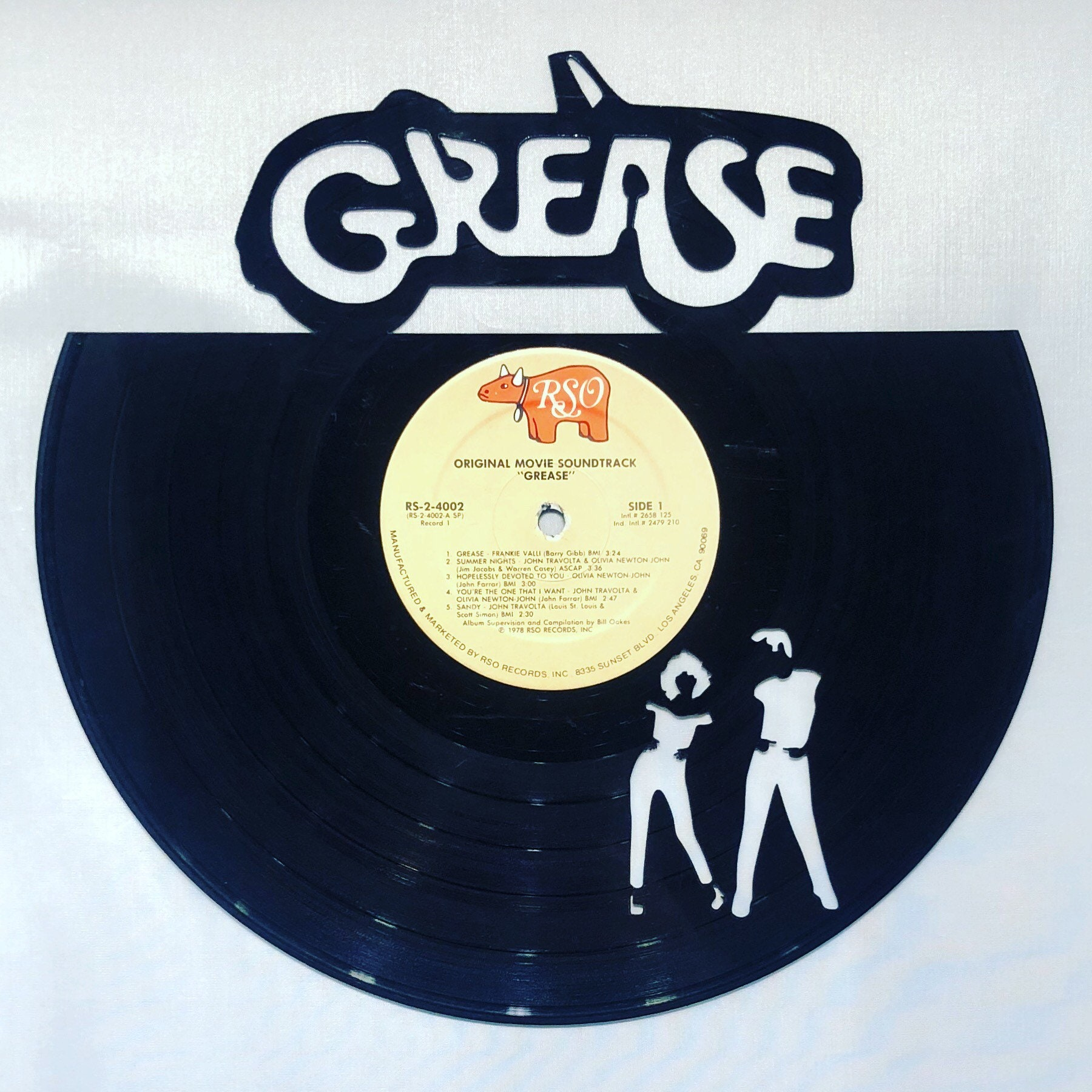 GREASE Vinyl Record Wall Art