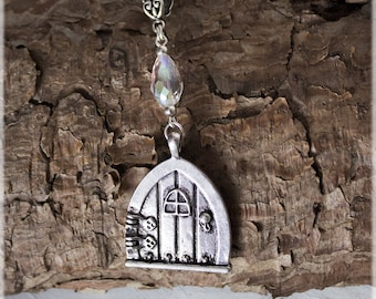 Fairy Door, Fairy Charms, Silver Necklace, Fairy Jewelry, Fairy Door Gifts, Fairy Accessories, Silver Jewelry, Fairy Charm, Birthday Gifts