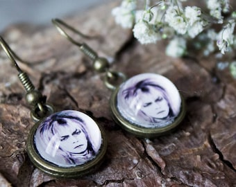Bowie Bronze Earrings - Labyrinth Jewellery - Jareth The Goblin King - Dangle Earrings - Gifts for Her - Birthday Accessories