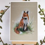 Fox Card, Greeting Card, Wildlife Card, Birthday Cards, Animal Card, Animal Greeting Card, Fox Art, All Occasion Card, Greeting Card, Foxes