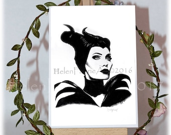 Maleficent Greeting Card, Blank Greeting Card, Birthday Card, Fairy Greeting Card, All Occasion Cards, Card and Envelopes, Fairy tale Card