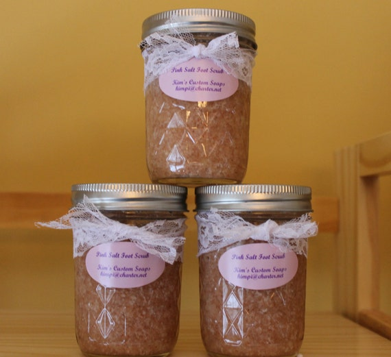 Pink Salt Foot Scrub, All Natural and Vegan