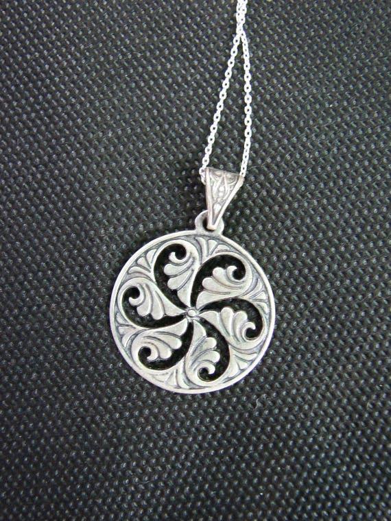 Pendant Wheel Of Eternity Sterling Silver 925 Armenian Etsy
