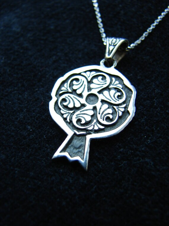 Pendant Wheel Of Eternity Sterling Silver 925 In Pomegranate Etsy