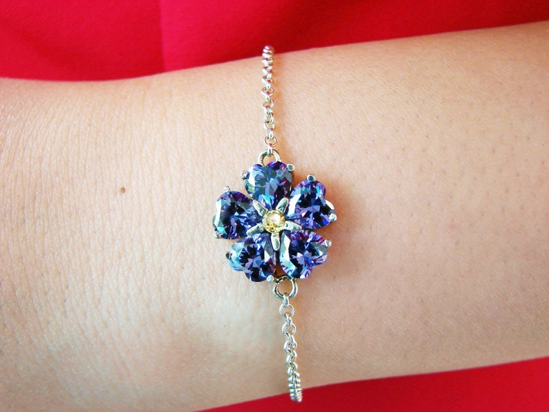 440b316a7 Bracelet Forget me Not Flower Sterling Silver 925 Armenian | Etsy
