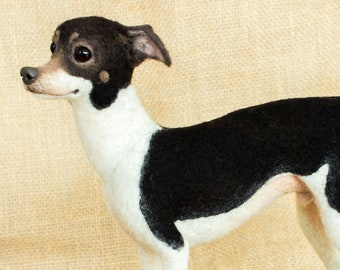 Made to Order Needle Felted Dog (short-haired): Custom needle felted animal sculpture