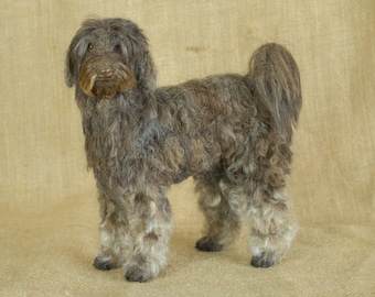 READY TO SHIP Labradoodle: Needle felted animal sculpture