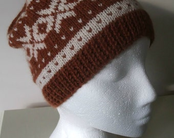 Knitting Pattern for Ladies Nordic Beanie