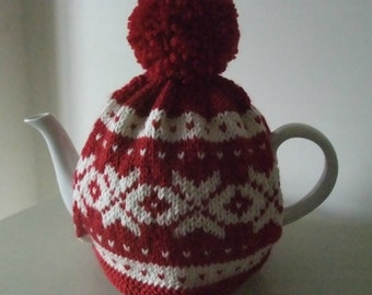 """Knitting Pattern for """"Nordic"""" Tea Cosy"""